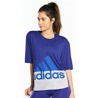 adidas Logo Tee - Purple  , Purple, Size Xs, Women