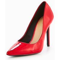 V by Very Chic Pointed Court Shoe - Red, Red, Size 6, Women