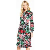 V by Very Jersey Printed Midi Dress, Floral Print, Size 20, Women