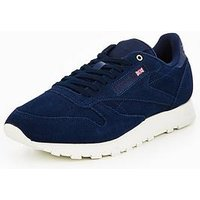 Reebok Classics Leather MCC, Blue, Size 7, Men