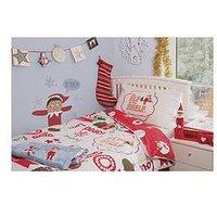 Product photograph showing Elf On The Shelf Elf On The Shelf Reversible Christmas Duvet Set