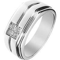 Love DIAMOND Sterling Silver Diamond set Gents Ring, One Colour, Size Z, Women
