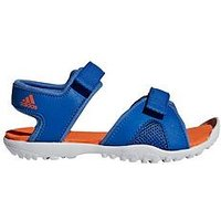 adidas Sanplay OD K Childrens Sandal, Blue/Orange, Size 2