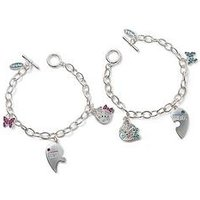 Me To You Me to You Tatty Teddy Silver Plated Best Friends Bracelets 2-piece set, One Colour, Women