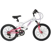Muddyfox Energy Dual Suspension Girls Mountain Bike 20 Inch Wheel