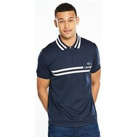 Lacoste Sport Striped Collar Polo, Navy, Size 5, Men