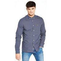 Lyle & Scott Lyle & Scott Mini Check Shirt, Navy, Size S, Men