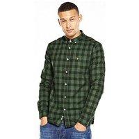 Lyle & Scott Lyle & Scott Flecked Check Shirt, Leaf Green, Size S, Men