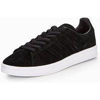 adidas Originals Campus Stitch & Turn - Black , Black/White, Size 8, Women