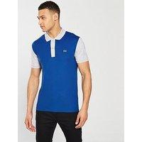 Lacoste Sportswear Colour Block Polo, Blue/Grey, Size 3, Men