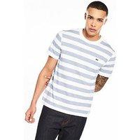 Lacoste Sportswear Stripe T-shirt, White/King, Size 6, Men