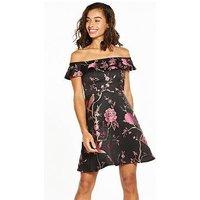 V by Very Petite Premium Jacquard Prom Dress, Multi, Size 16, Women