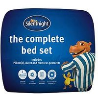 Product photograph showing Silentnight Complete Bed Set - Includes 10 5 Tog Duvet Mattress Protector And Pillow S
