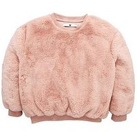 V by Very Fur Jumper, Pink, Size Age: 14 Years, Women
