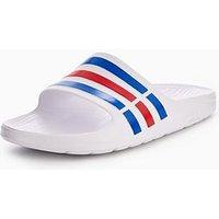 adidas Duramo Slider, White, Size 8, Men
