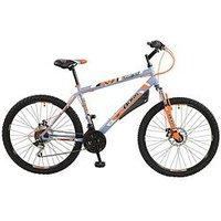 BOSS Vortex Steel Mens Mountain Bike 18 inch Frame, Multi, Men