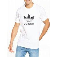 adidas Originals Trefoil T-Shirt, White, Size L, Men