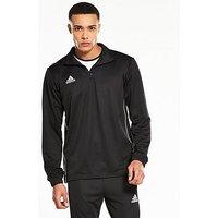 adidas Core 18 Training 1/2 Zip Top, Black, Size M, Men