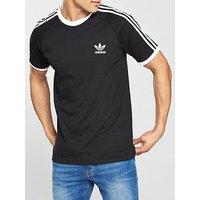 adidas Originals adicolor 3 Stripe California T-shirt, Black, Size Xs, Men