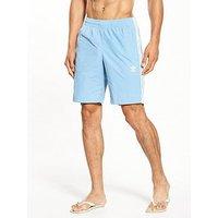 adidas Originals adicolor 3 Stripes Swim Short, Blue, Size Xs, Men
