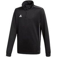 Boys, adidas Adidas Youth Core 18 Training 1/2 Zip Top, Black, Size 11-12 Years
