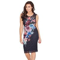 Jessica Wright Jessica Wright Elsie Printed Lace Midi Dress