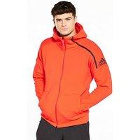 adidas ZNE 2 Hoodie, Red, Size 2Xl, Men