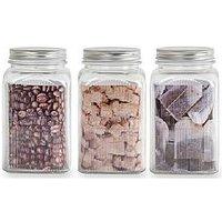 Sabichi Large Screw Top Storage Jars Set Of 3