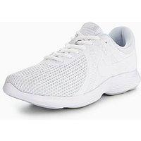 Nike Revolution 4, White/White, Size 6, Men