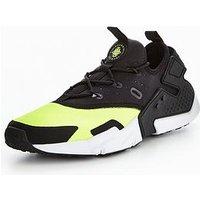 Nike Air Huarache Drift, Black/Yellow, Size 6, Men