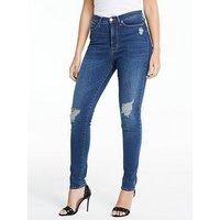 Michelle Keegan Premium Skinny Jean, Mid Wash, Size 16, Women