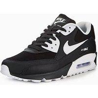Nike Air Max 90 Essential, Black/White, Size 8, Men
