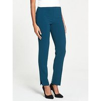 V by Very Fashion Cigarette Trouser - Teal, Teal, Size 12, Women