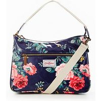 Cath Kidston Porchester Rose Zipped Handbag, Navy, Women
