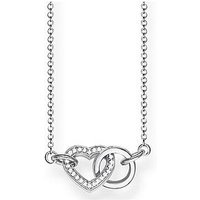Thomas Sabo Sterling Silver Cubic Zirconia Together Forever Heart Link Necklace, One Colour, Women