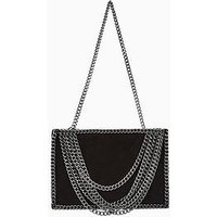 V by Very Hanging Chain Clutch/Shoulder Bag, Black, Women