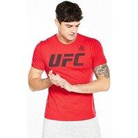 Reebok UFC Logo T-Shirt, Red, Size M, Men