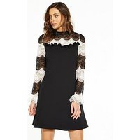 V by Very Mono Lace Swing Dress, Mono, Size 12, Women