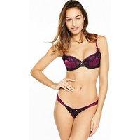 Lipsy Kimela Bra, Red/Black, Size 36C, Women