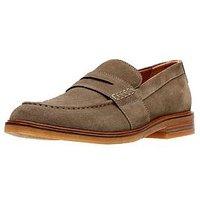 Clarks Clarkdale Flow Suede Shoe, Olive, Size 12, Men
