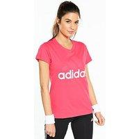adidas Essentials Linear Tee - Pink , Pink, Size Xs, Women