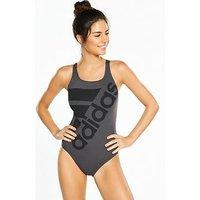 adidas Infinite Swimsuit, Carbon, Size 34, Women