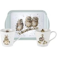 Product photograph showing Royal Worcester Wrendale Mug And Tray Set