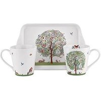 Portmeirion Portmeirion Enchanted Mug &Amp; Tray Set