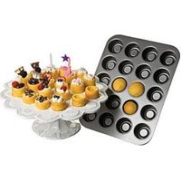Chicgao Metallic Tea Cake Pan 20 Cup - Non Stick