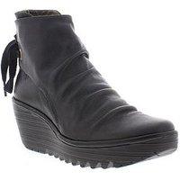 Fly London Fly Yama Tie Back Ankle Boot, Black, Size 8, Women