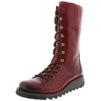 Fly London Fly Ster760fly Lace Up Calf Boot, Red, Size 3, Women