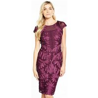 Phase Eight Trini Tapework Dress - Magenta, Magenta, Size 12, Women