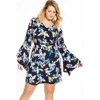 JUNAROSE Perline Long Sleeve Shift Dress, Print, Size 20, Women