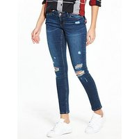 Noisy may Ripped Skinny Jeans, Denim, Size Xs=24, Women